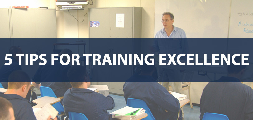5 Tips for Training Excellence